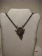 Alchemy  Gothic pendant necklace in pewter metal Dragon Skull